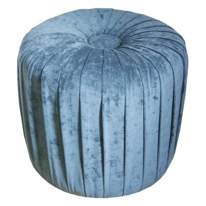 blue ottoman target velvet pleated ottoman stool mermaid blue target