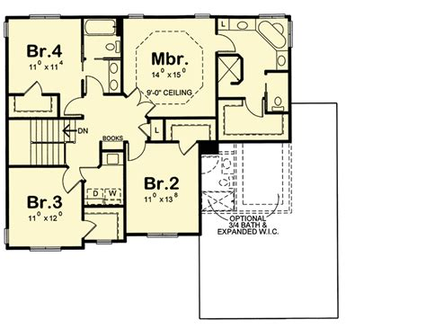 house plans with master suite on second floor 4 bed house plan with laundry upstairs 42384db 2nd