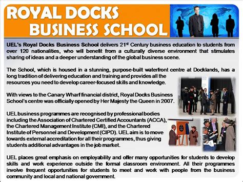Uel Mba by Uel Mba In Malaysia Royal Dock Business School