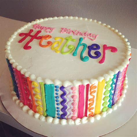 squiggle rainbow cake  hayleycakes  cookies austin texas cakes   pasteles de