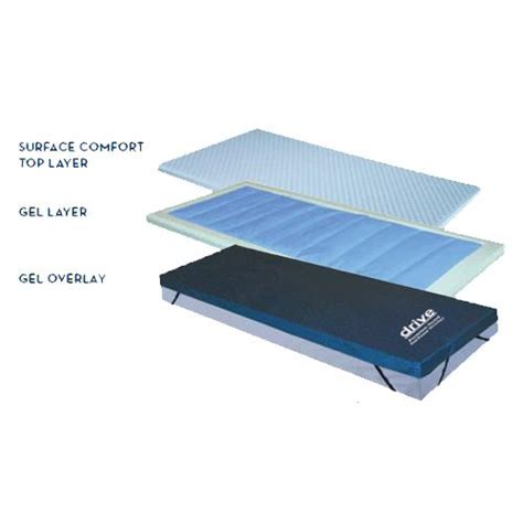 Gel Mattress Overlay by Drive Premium Guard Gel And Foam Overlay Mattress