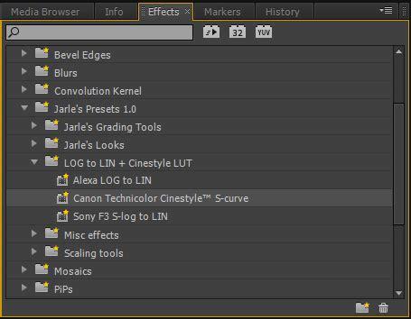 adobe premiere cs6 lut набор пресетов jarle s premiere pro presets version 1 0
