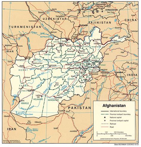 road maps and directions detailed administrative and road map of afghanistan