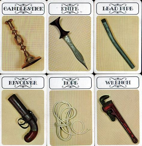 clue cards weapon template 17 best images about cluedo clue on the