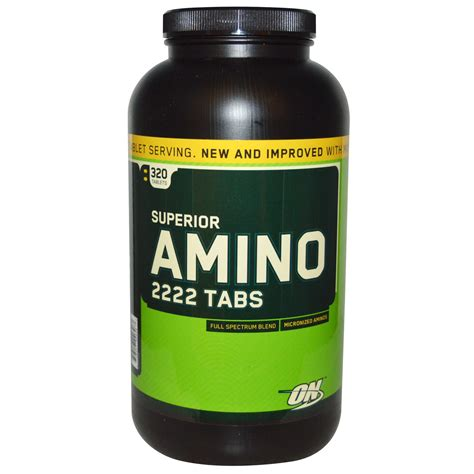 Amino 2222 On Isi 320 Tabs optimum nutrition superior amino 2222 tabs 320 tablets iherb