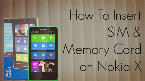 how to make memory cards nokia x how to insert sim memory card tutorial