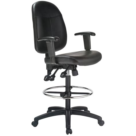 Leather Drafting Chair by Harwick Ergonomic Leather Drafting Chair Ebay
