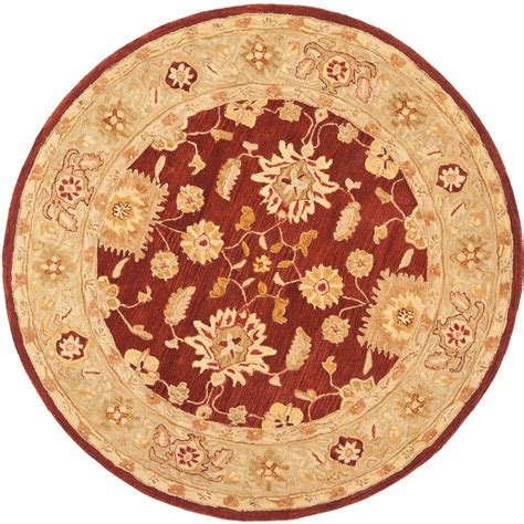 Safavieh Anatolia Red Sage 4 Ft X 4 Ft Round Area Rug 4 Foot Area Rugs