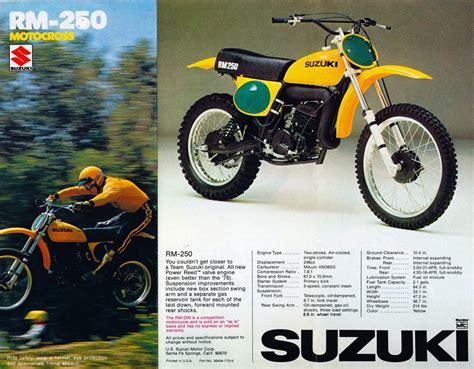 suzuki rm dirt brochure specs suzuki rm