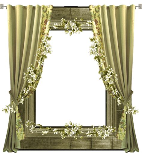curtain frame green transparent png frame with curtain gallery