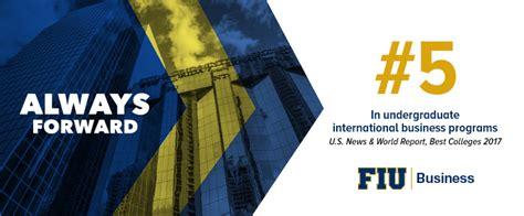 Fiu International Mba Application by College Of Business Ranked Top 5 By U S News For