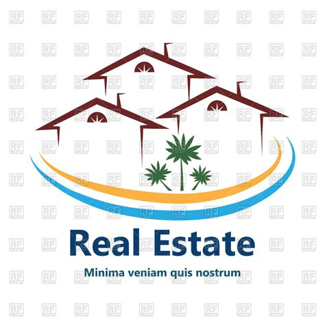 r house real estate outline of house or apartments icon for real estate vector image 60526 rfclipart