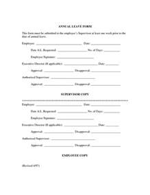 Application Letter Sle Annual Leave Annual Leave Application Letter Doc 28 Images 38 Leave Letter Sles 5 Annual Leave Letter