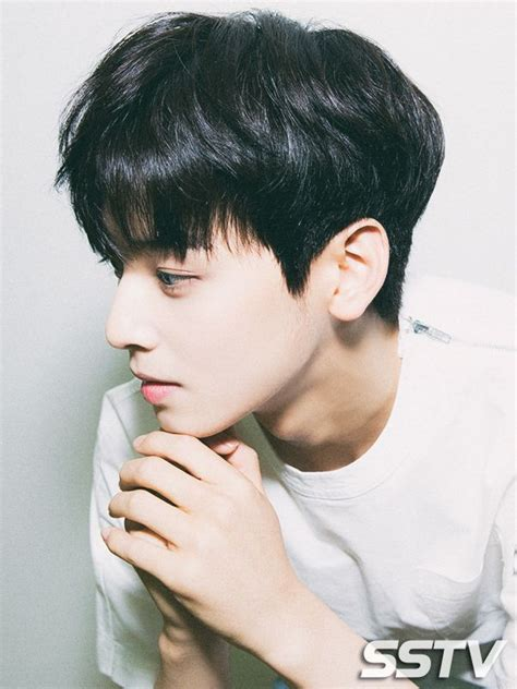 kpop hairstyles male he s not the visual for nothing astro pinterest leon