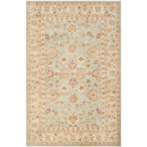 Blue And Beige Area Rug Safavieh Antiquity Grey Blue Beige 5 Ft X 8 Ft Area Rug At822a 5 The Home Depot