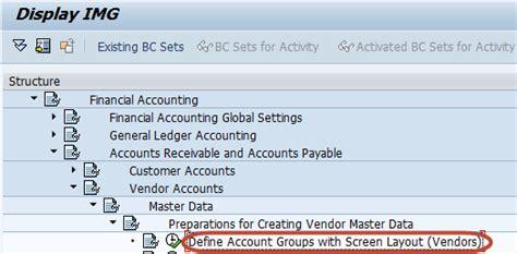 sap jsp tutorial how to create a vendor account group in sap fico