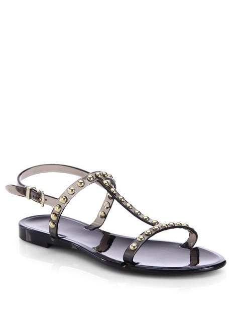 studded jelly sandals givenchy studded jelly sandals in black lyst