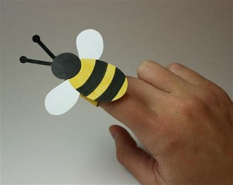 bee finger puppet bee opportunity pinterest