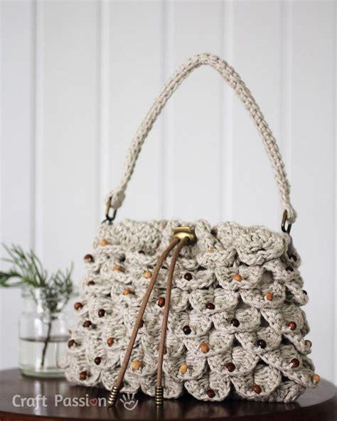 crochet pattern crocodile stitch bag crocodile stitch drawstring purse crochet pattern