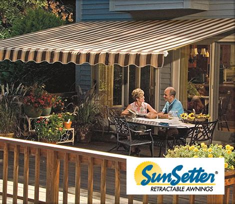 sunsetters awnings sunsetter retractable awning