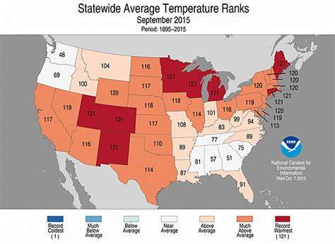 national climate report september 2015 state of the
