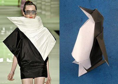 Origami Fashion Designers - regular irregular from regular origami to irregualr dress