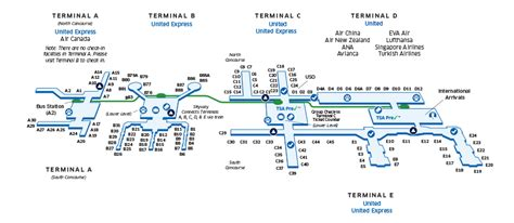houston texas airport terminal map houston intercontinental iah airport map united airlines