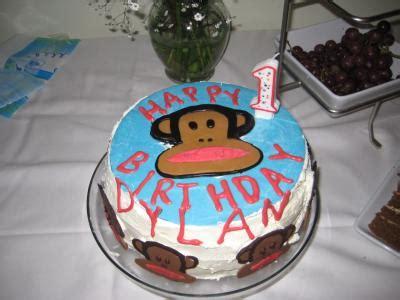 julius paul frank monkey st birthday cake