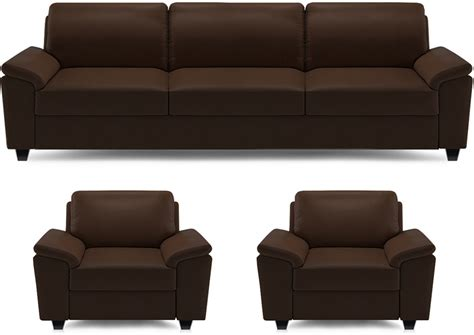Flipkart Sofa Set by Dolphin Oxford Leatherette 3 1 1 Brown Sofa Set Price