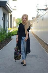 Casual wear hijab styles with jeans trends 2016 2017 4