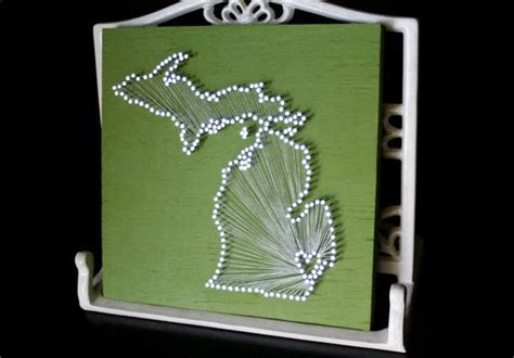 Michigan String - michigan 9 quot x9 quot nail and string tribute to