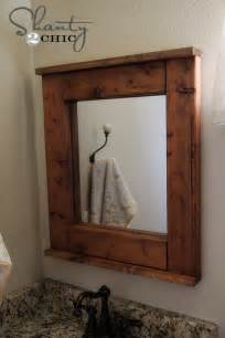 wood bathroom mirror wood mirror diy shanty 2 chic
