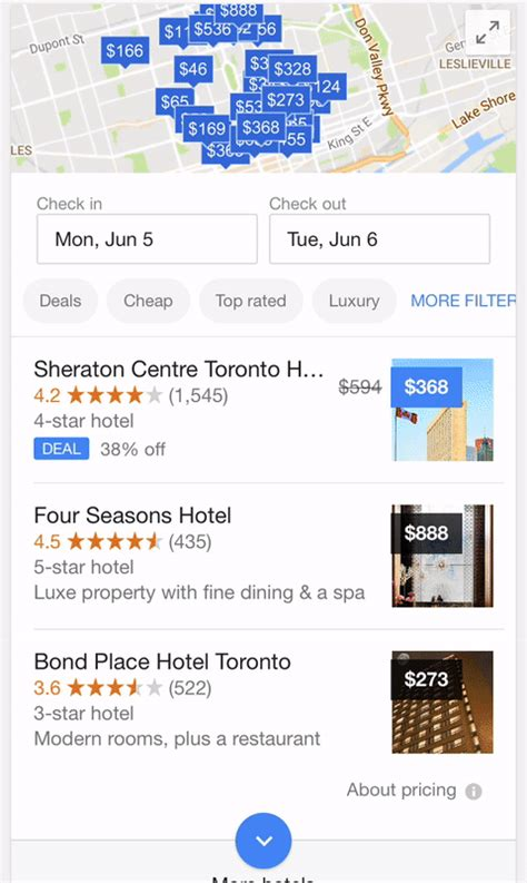 map pricing tests clickable hotel prices in map view globalurlpromoter comglobalurlpromoter