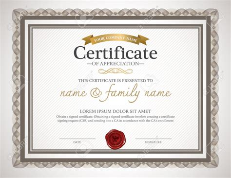 design a certificate in word certificate design template certificate templates