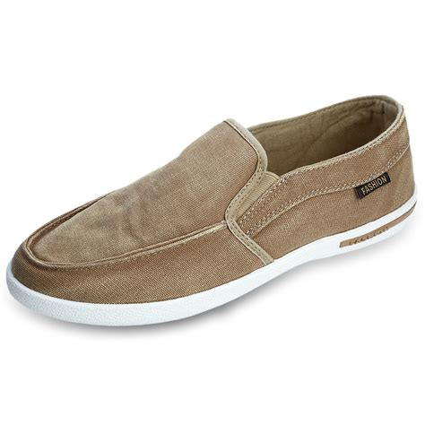 mens slip on sneakers new summer canvas breathable slip on sneakers loafers mens