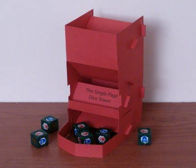 printable dice tower single page paper dice tower