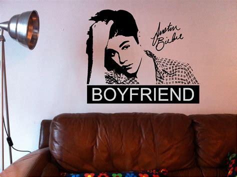 justin bieber wall stickers justin bieber boyfriend wall quote vinyl sticker