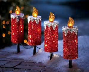 Outdoor Candle Lights Set Of 4 Candle Outdoor Path Lights