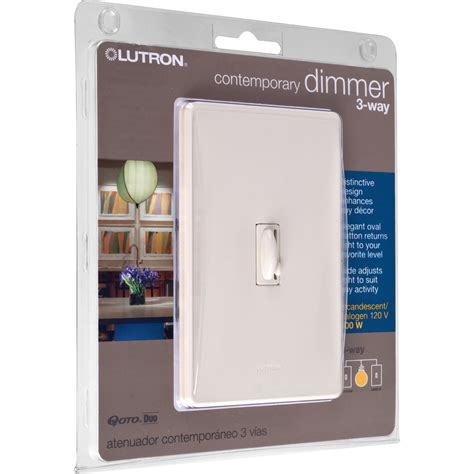 lutron dimmer light switches light almond lutron qoto dimmer switch 600w 3 way ebay