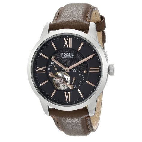 Fossil Leather D 4 8cm Artk Jpg fossil s me3061 townsman automatic leather brown