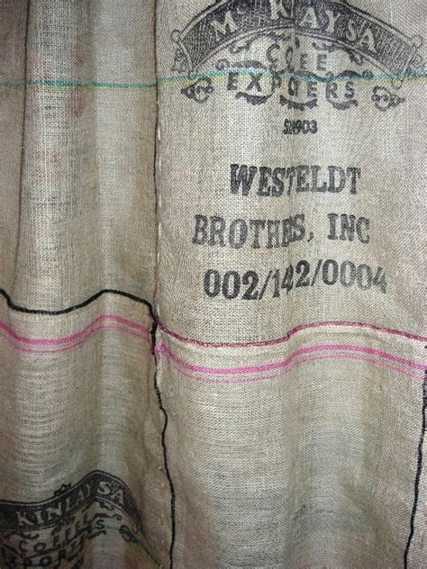 burlap coffee bag curtains burlap coffee bag shower curtain wedding pinterest