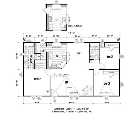 golden west manufactured homes floor plans golden west golden oak floor plans 5starhomes