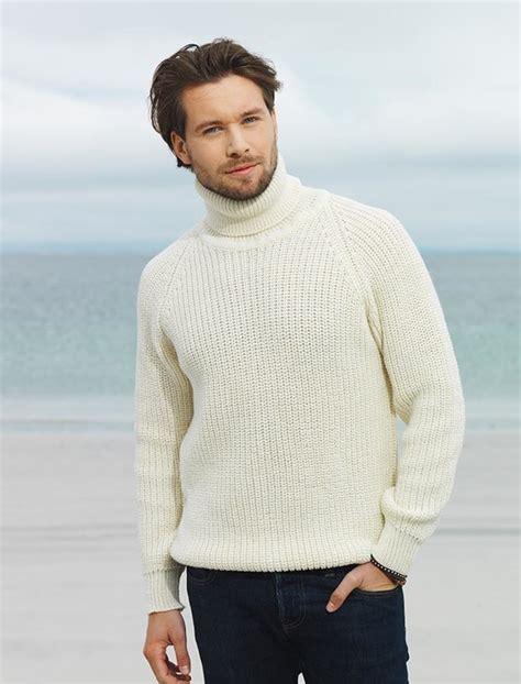 Turtle Neck Wool Sweater fisherman s merino ribbed turtleneck sweater