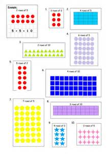 multiplication arrays 2x 5x 10x block e unit 1 by cfg4