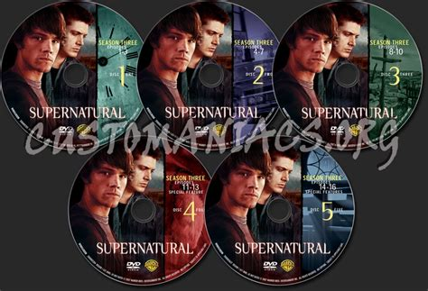 Dvd Supernatural Season 3 supernatural season 3 dvd label dvd covers labels by customaniacs id 150671 free