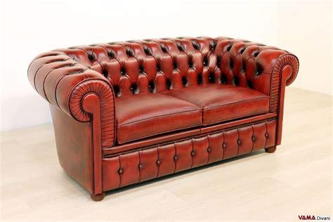 divano chesterfield rosso divano chesterfield 2 posti vama divani
