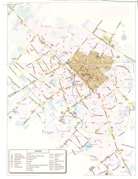 map of city of yazd city map 2005 high resolution image 542kb