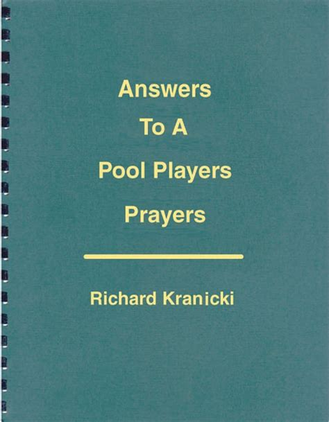 answers to prayer books answers to a pool players prayers
