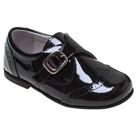 boys black leather patent shoes cachet