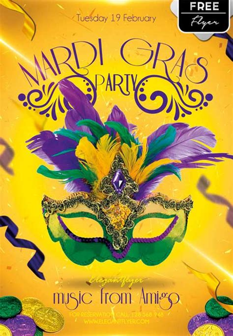 Download Free Mardi Gras Flyer Psd Templates For Photoshop Mardi Gras Flyer Template Free